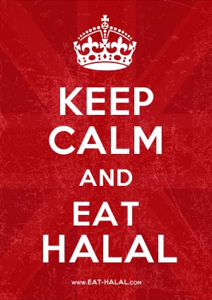 Keep Calm and Eat Halal British