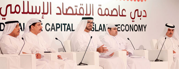 Mohammed Abdullah Al gergawi (centre) speaking at the ceremony. — Wam