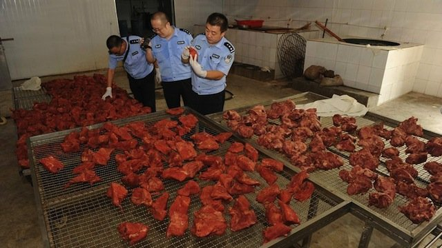 Muslim in China fed Pork