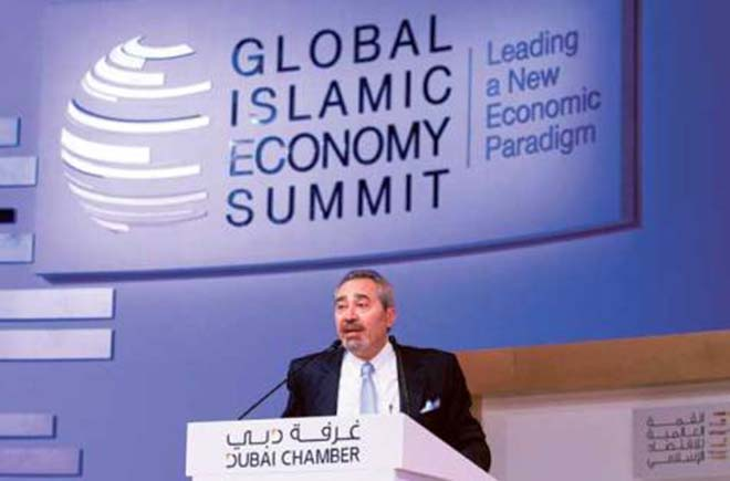Tirad Mahmoud, CEO , Abu Dhabi Islamic Bank, UAE , at the panel CEO s Debate 'Islamic Finance: Banking on Emotions or Merit?' during the Global Islamic Economy Summit.