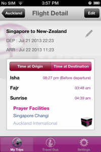 Arabic version of the in-flight prayer time App launched by Crescentrating