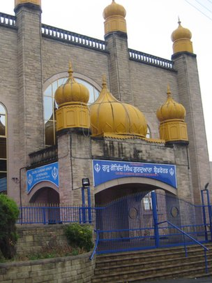 The Guru Gobind Singh Gurdwara in Bradford is one of the oldest Sikh temples in England