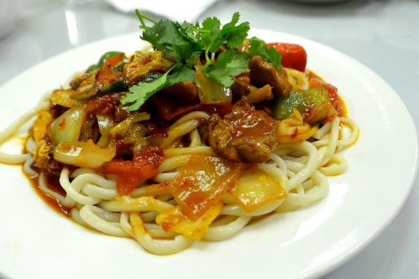 Laghman noodles at Silk Road