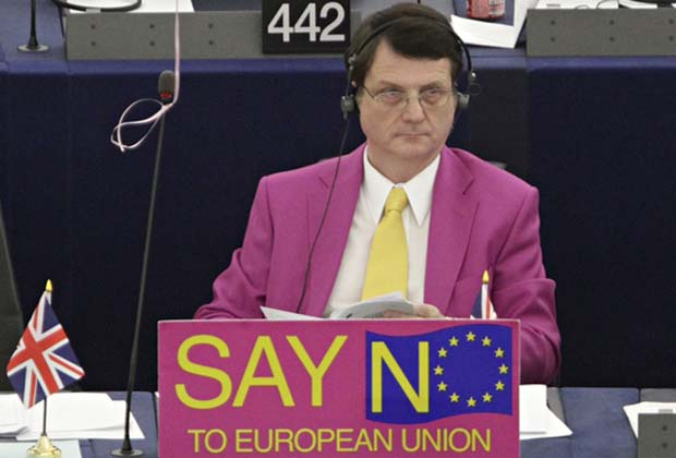 Ukip MEP Gerard Batten in action in Strasbourg. Photograph: Jean-Marc Loos/Reuters/Corbis