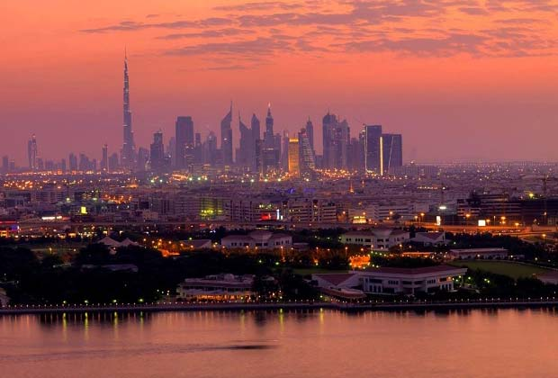 Dubai skyline at dusk!