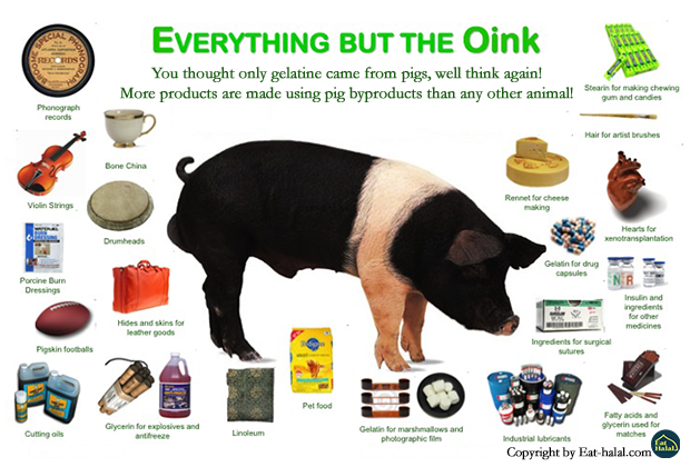 Products made out of pig